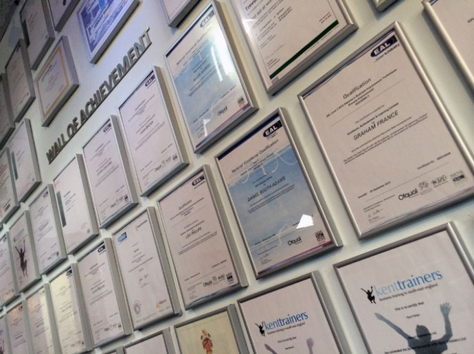 Wall of achievement