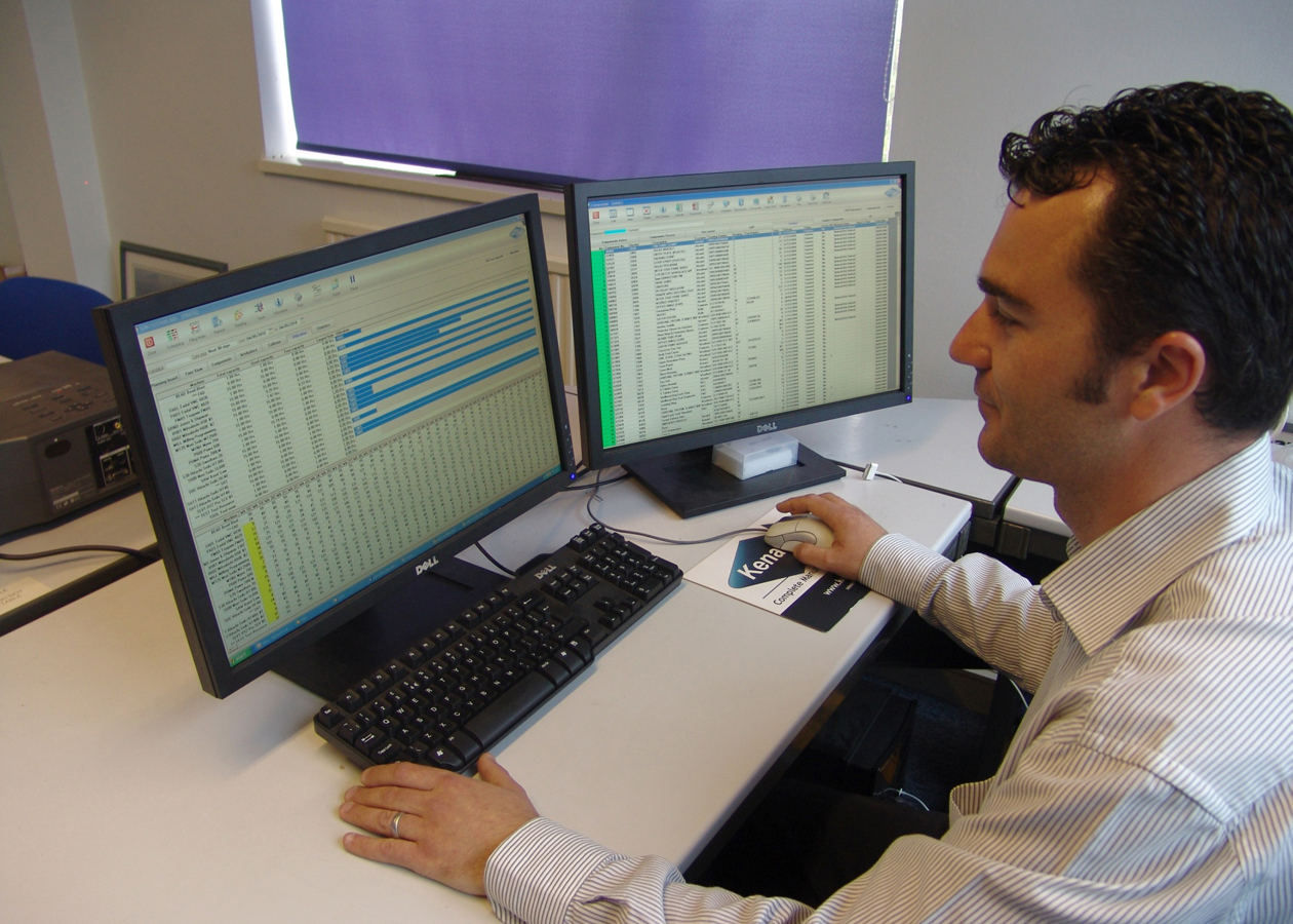 Production planning and control software